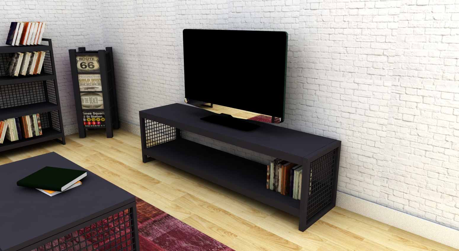 Chicago Black Tv Sehpası 160 Cm