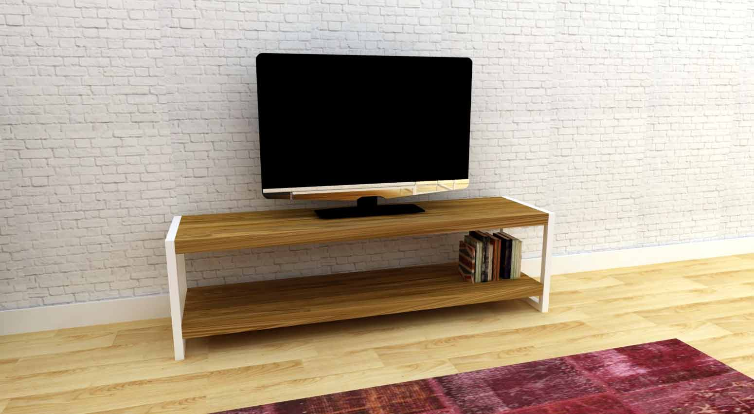 Kentucky White Tv Sehpası 140 Cm